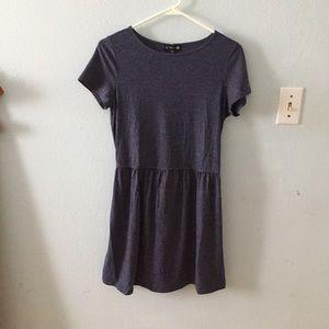 Blue t-shirt a-line dress